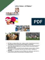 Positive Values  of Pilipino.docx
