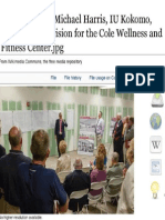 Michael Harris IU Kokomo, Cole Wellness and Fitness Center, IU Kokomo Chancellor