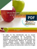 Interdisciplinariedad de areas La Manzana