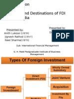 Sources and Destination of FDI & FII