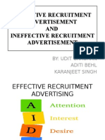 Effective Recruitment Advertisement