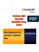 Safety Engineering for OIl Gas Industry Operational Plant