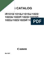 Canon iR_1018-1019-1022-1023_Parts_Catalog-