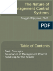 Chapter 1 the Nature of Management Control Systems