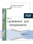 FAQs on Landowners'Just Compensation