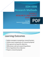 EOH 4306 W2L3 Objectives Hypotheses StEdit