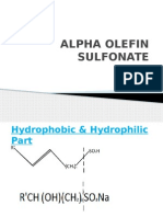 Alpha Olefin Sulfonate Ppt