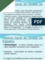 AULA 01-Fundamentos, Formação Histórica e Tendências Do Direito Do Trabalho