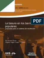 SINPA 14 Rosa (2000) La Basura en Los Barrios Populares