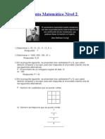 Razonamiento Matemático Nivel 2