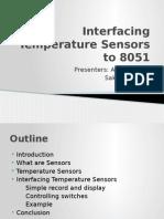 Interfacing Temperature Sensors to 8051