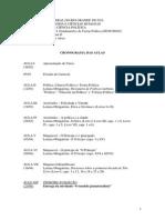 Programa do curso de política I UFRGS