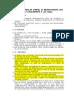 Parámetros Para El Diseño de Monografias Con Contenido Mayor a 100 Hojas