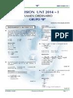 Examen admisión UNT 2014