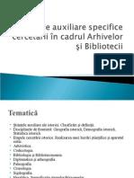 Modul Stiinte Auxiliare Specifice Cercetarii in Cadrul Arhivelor