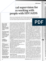 Clinical supervision for nurses working with people with HIV/AIDs