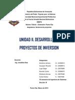 Desarrollo de proyectos de inversion