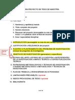 Estructura Proyecto de Tesis