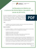 Nota Informativa Do Concurso de Educadores de Infância e de Professores Dos Ensinos Básico e Secundário - Ano Escolar%2