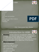 (Introduction to HRM)