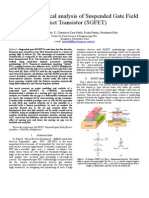 Coupled Numerical Analysis of Suspended Gate Field Effect Transistor (SGFET)