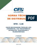 Ntd 3.48 - Chave Seccionadora Tripolar Sf6 Submersivel Telecomanadada - 2 Edio
