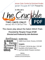 The Crucible Flyer