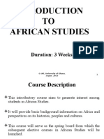 Intro to African Studies--2013 Editted