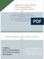 Politicas Publicas Del Cambio Climatico