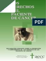 Derechos de Los Pacientes de Cancer
