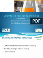 Keynote - Chemturas Journey to the Cloud