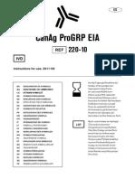 CanAg ProGRP EIA 220-10 ES, 2011-09. F6073, r0