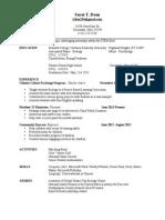 p & g resume