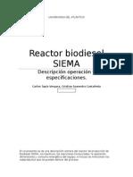 Reactor Biodiesel SIEMA