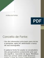 Analise de Fontes Ppt 2