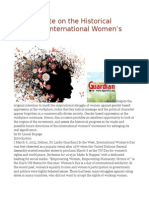 A Short Note on the Historical Legacy of International Women's Day