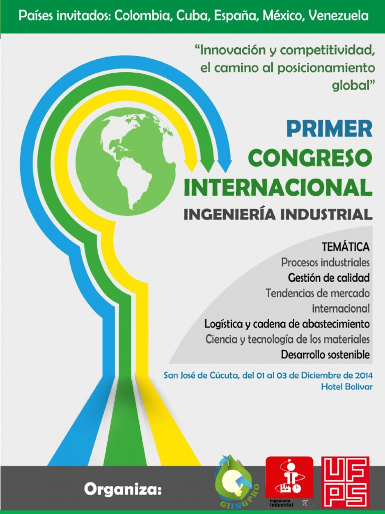 Primer Congreso de Ingeniería Industrial, UFPS, Cúcuta