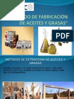 Método de Fabricación de Aceites y Grasas