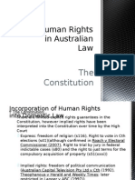 human rights in australian law - the constitution