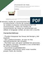 Medios de Comunicación de Masa