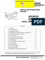 Sharp Ar-m150 Ar-m155 Ar-m155x Service Manual Pages
