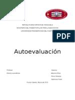 Auto Evaluación- Diseño y Evaluación de Proyecto