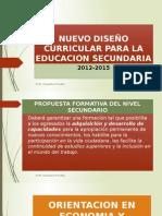 Nuevo Diseño Curricular Para La Orientacion en Economia y Administracion