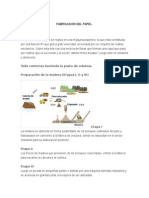 Proceso de Fabricacion Del Papel