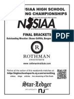 2015 NJSIAA Wrestling Tournament Final Brackets and Report