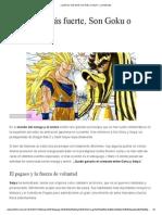 ¿Quién Es Más Fuerte, Son Goku o Seiya_ - La Historieta