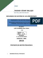Propuesta de Gestion Pedagógica 2015 - i
