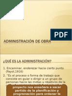 Administración de Obra, Carta Gantt