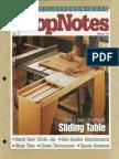 ShopNotes #15 - Sliding Table