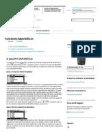 Funciones hiperbólicas Calculadora gráfica HP 50g _ Soporte HP®